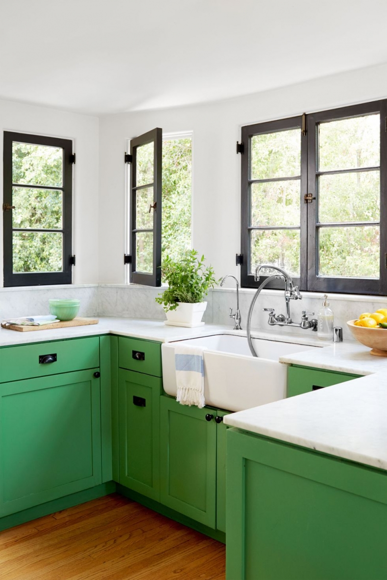 exciting green kitchens white cabinets | 20+ GORGEOUS GREEN KITCHEN CABINET IDEAS