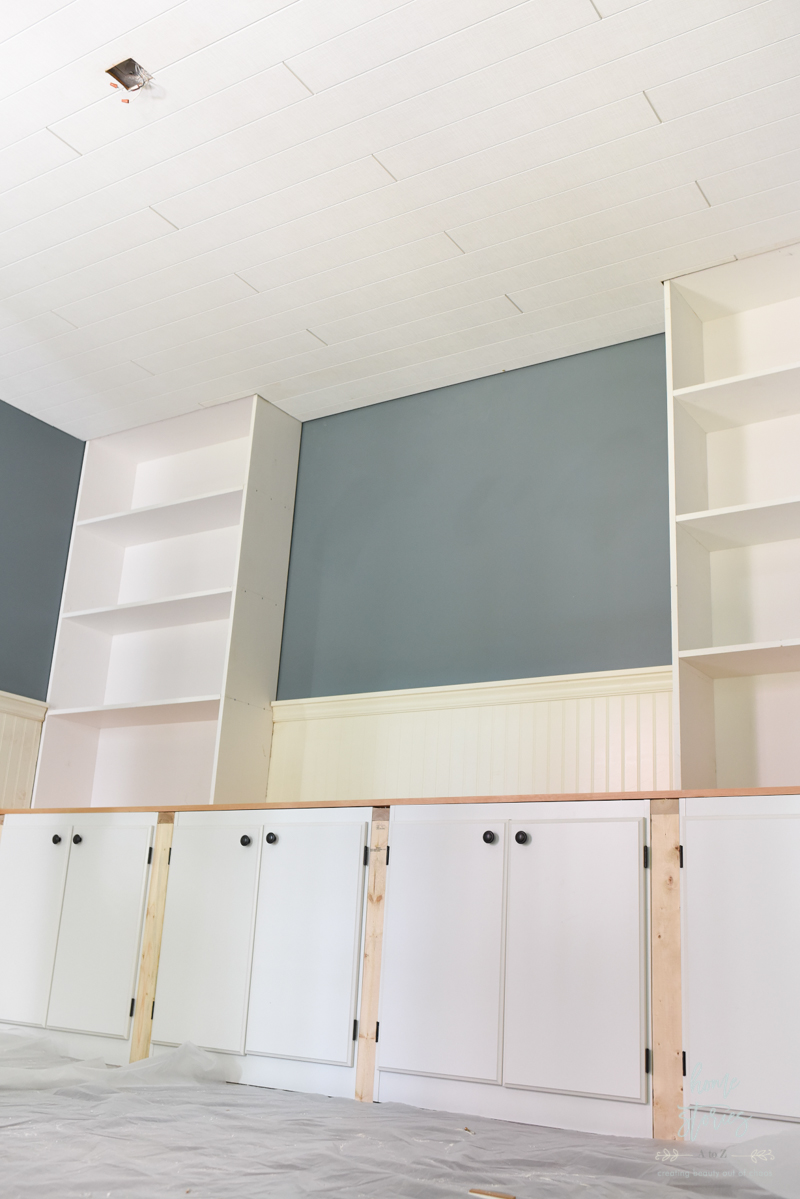 How to Cover a Popcorn Ceiling Using Beautiful Armstrong WoodHaven ...