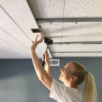 How to Cover a Popcorn Ceiling Using Beautiful Armstrong WoodHaven Planks