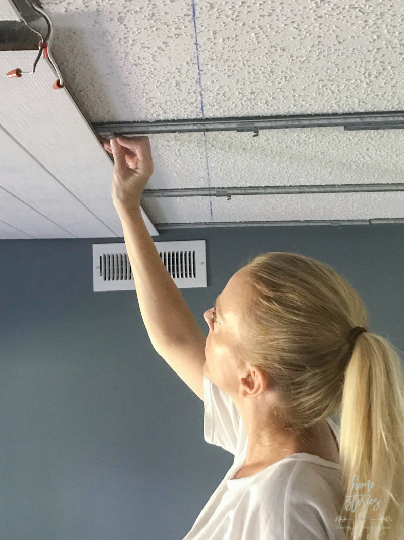How To Cover A Popcorn Ceiling Using Beautiful Armstrong