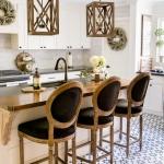 Beautiful Black & White Fall Farmhouse Kitchen