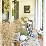 Black & White Fall Porch