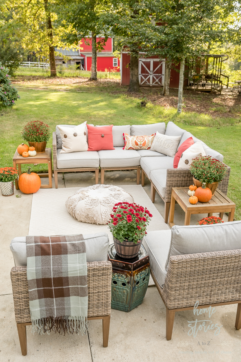 Affordable Fall Decor 6 Tips For Southern Outdoor Patio Decorating And Fall Entertaining