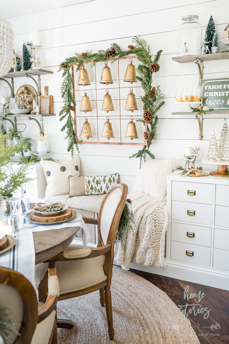 Farmhouse Christmas Tips On How To Affordably Decorate Shelves