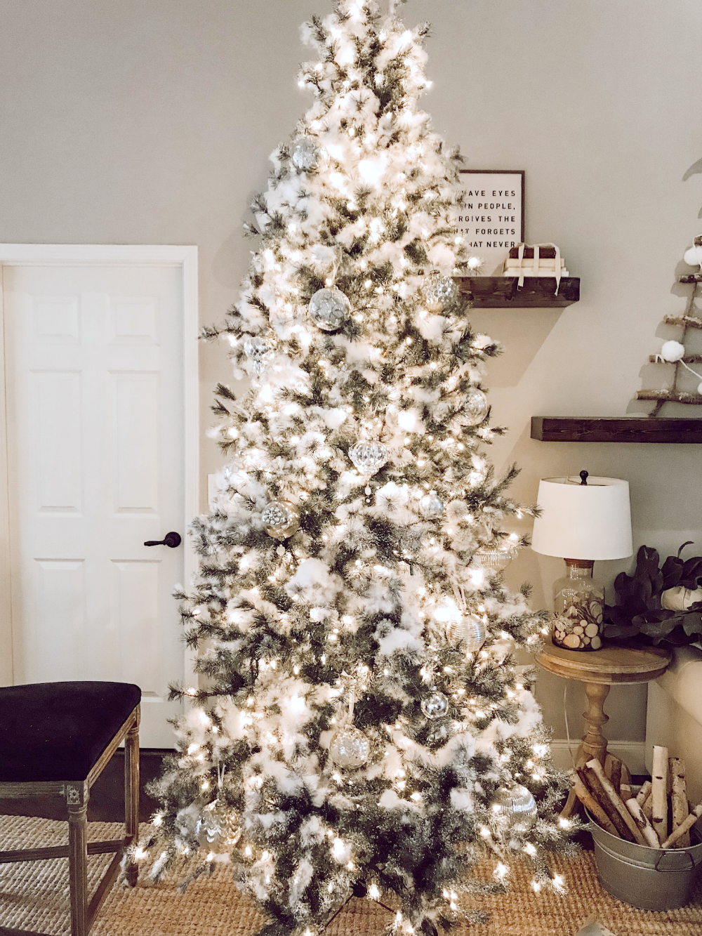 neutral christmas tree decorating tips