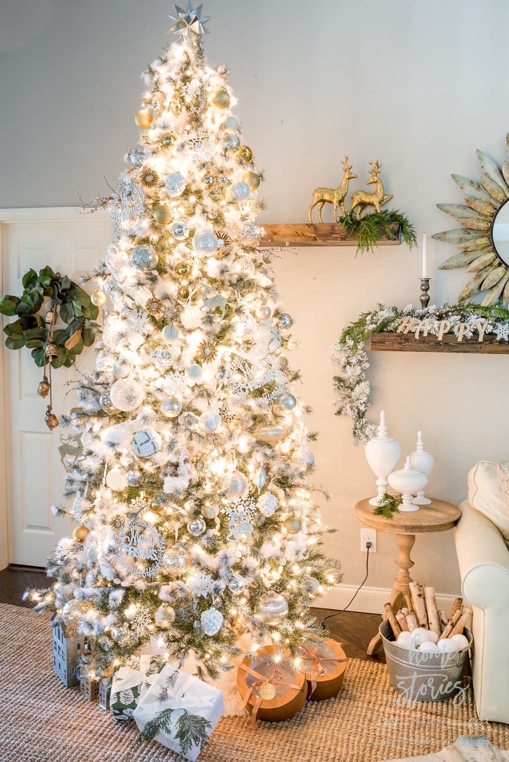 Neutral Christmas Tips For Decorating A Silver And Gold Christmas
