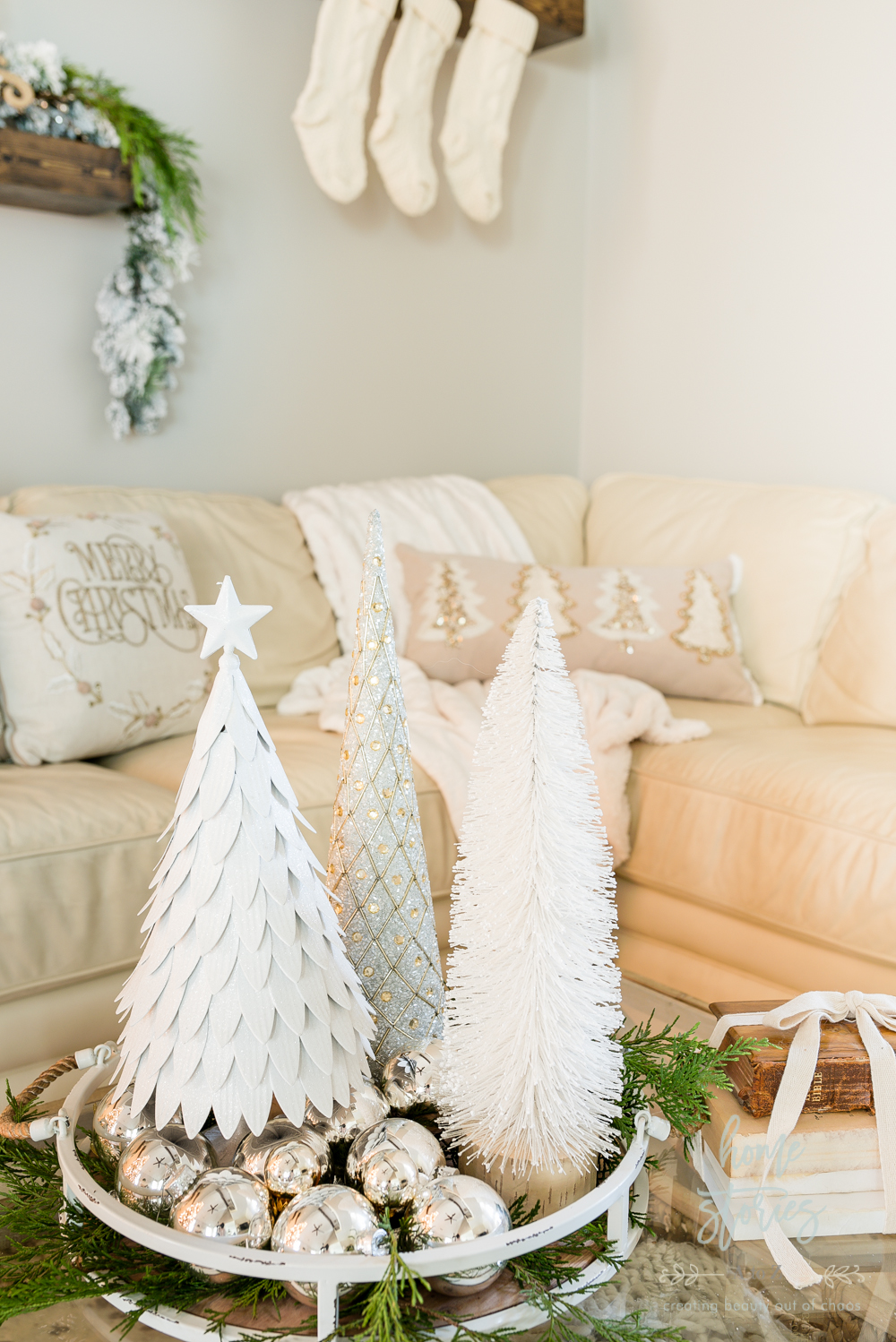 Picture of: Rustic Glam Christmas Family Room Decor From Christmas Tree Shops