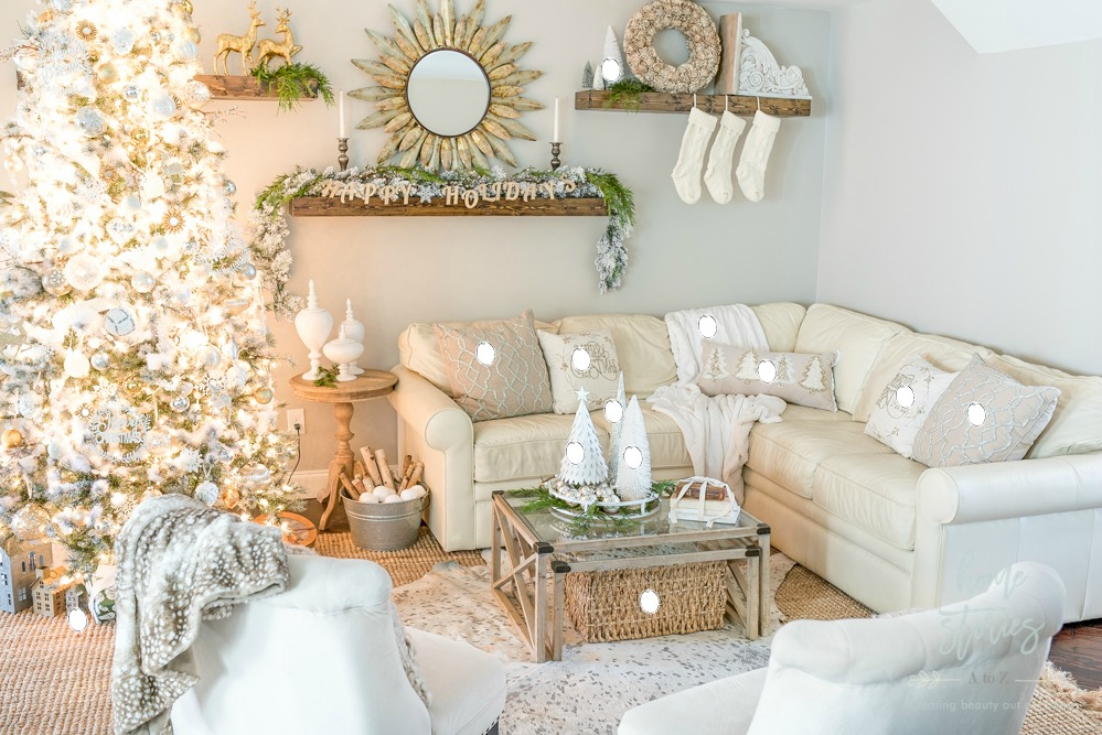 Rustic Glam Christmas Family Room Decor from Christmas ...