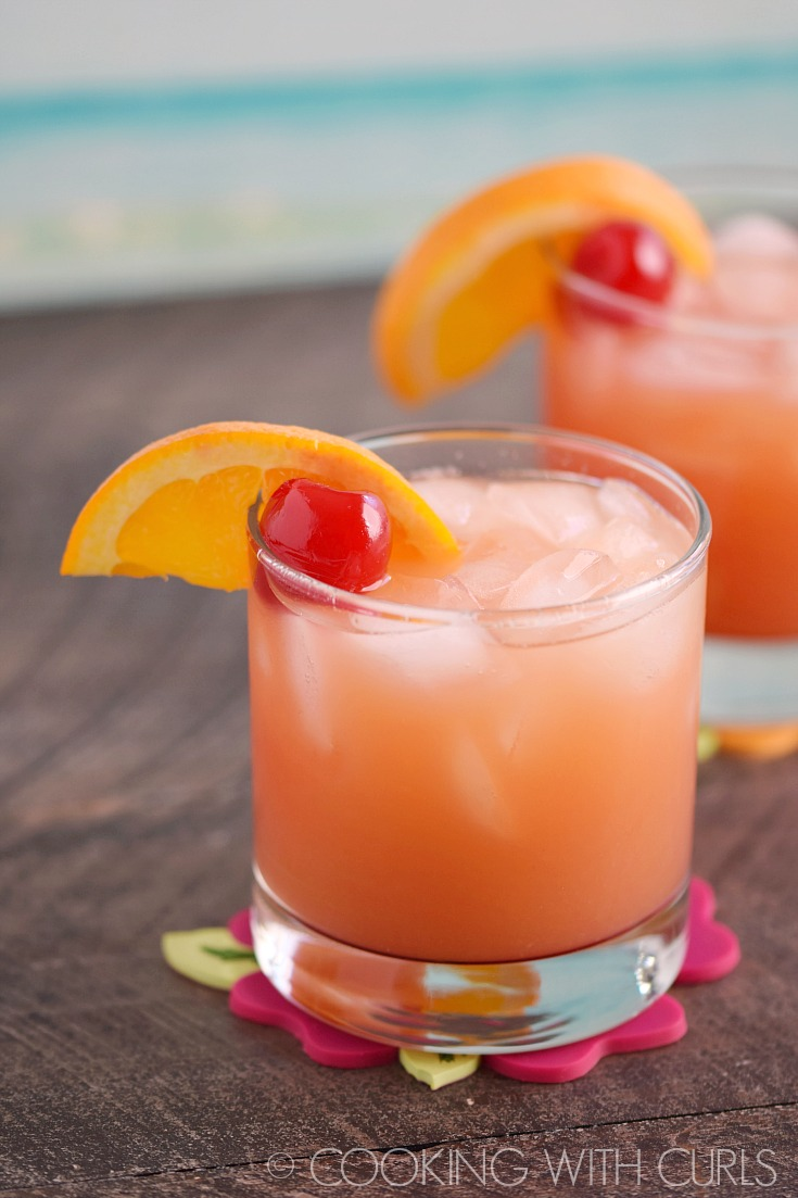 Boozy Holiday Cocktails - Carribbean Rum Punch by Cooking with Curls
