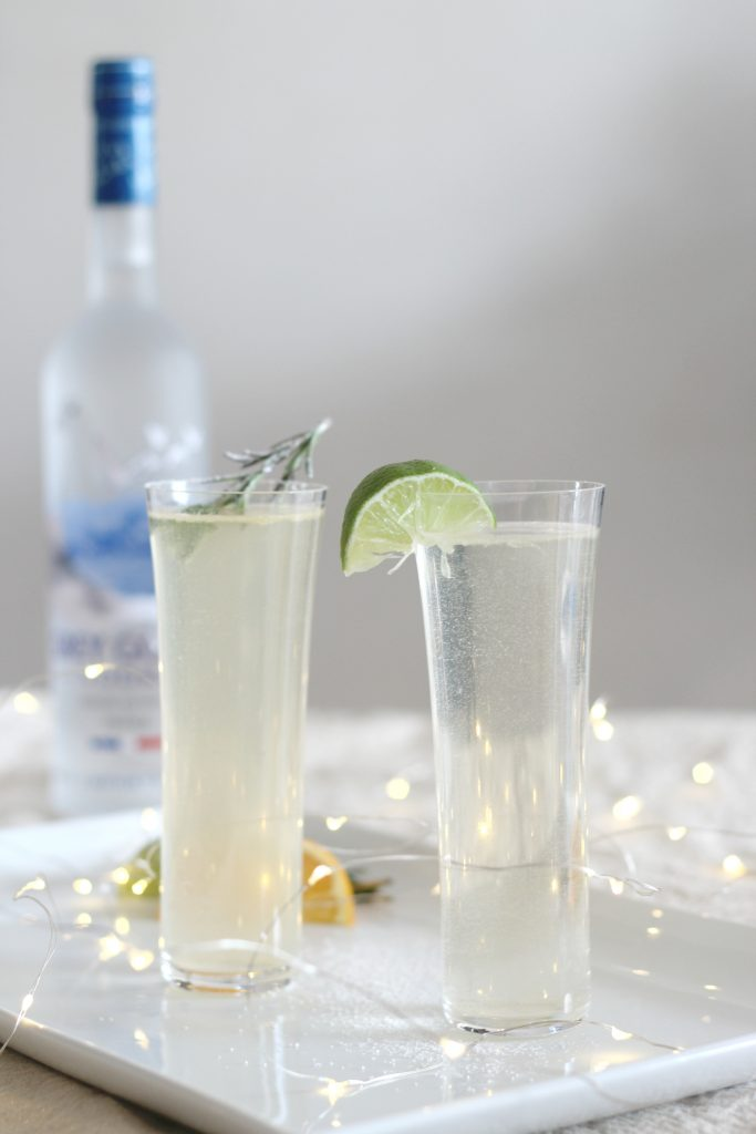 Rosemary and Orange Grey Goose Martini by Sparkle Living Blog