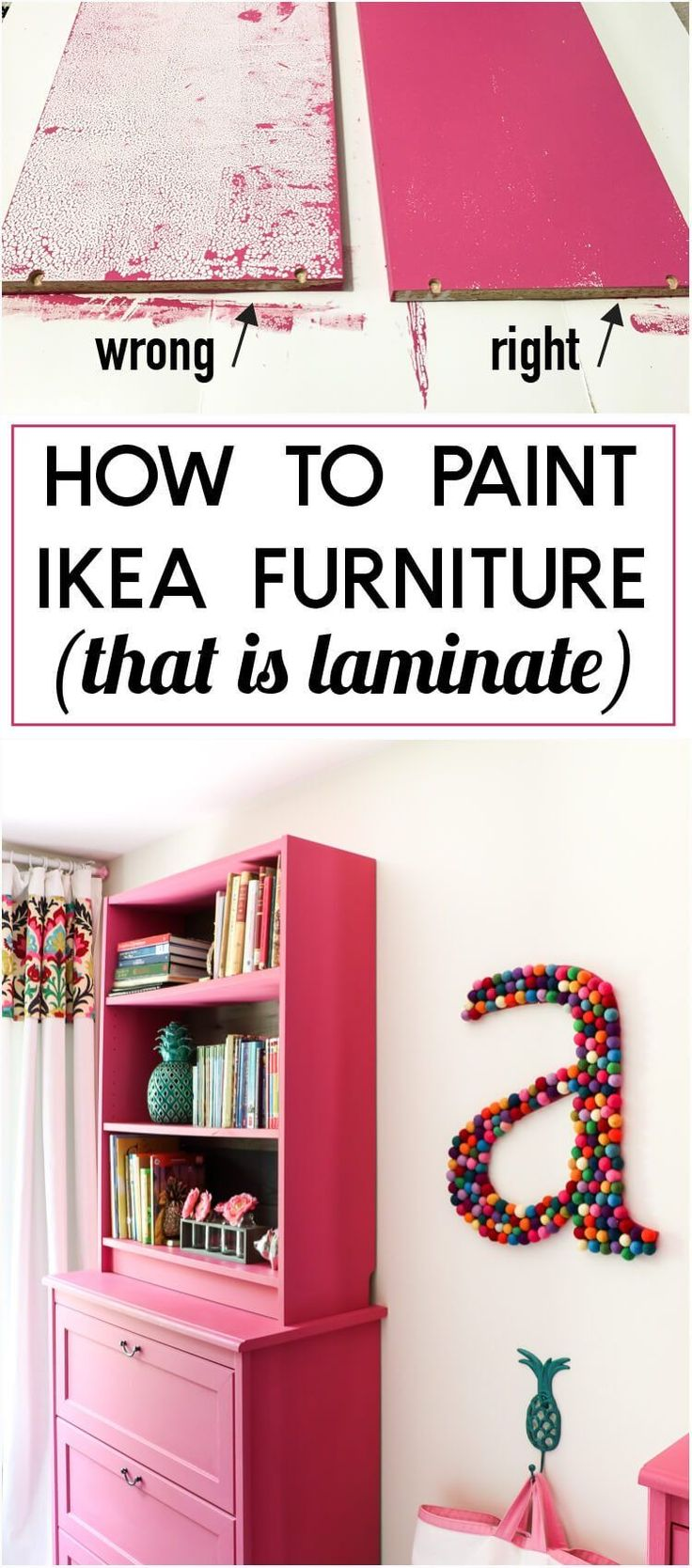 Knowing how to paint laminate furniture is vital for many furniture makeovers! This trick is brilliant!