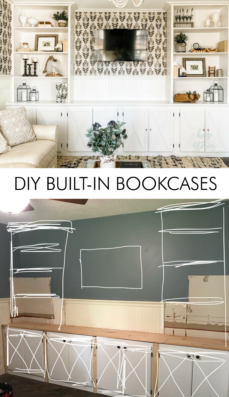 Diy Built In Bookcase And Cabinets