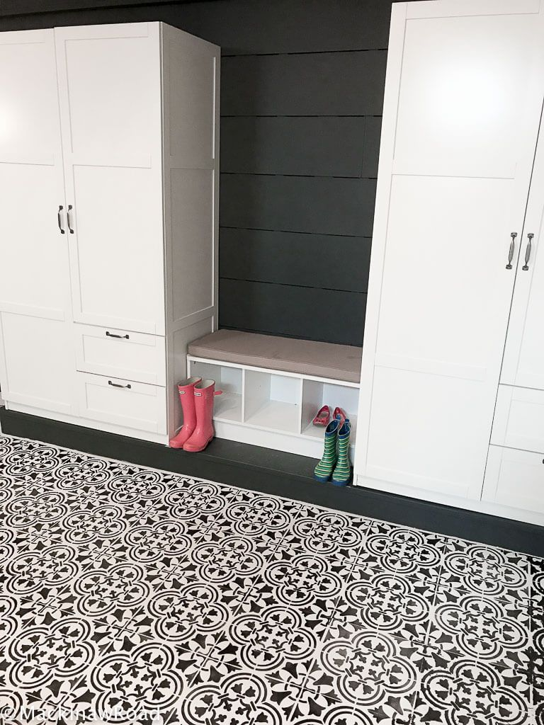 Stenciled And Painted Floor Tiles