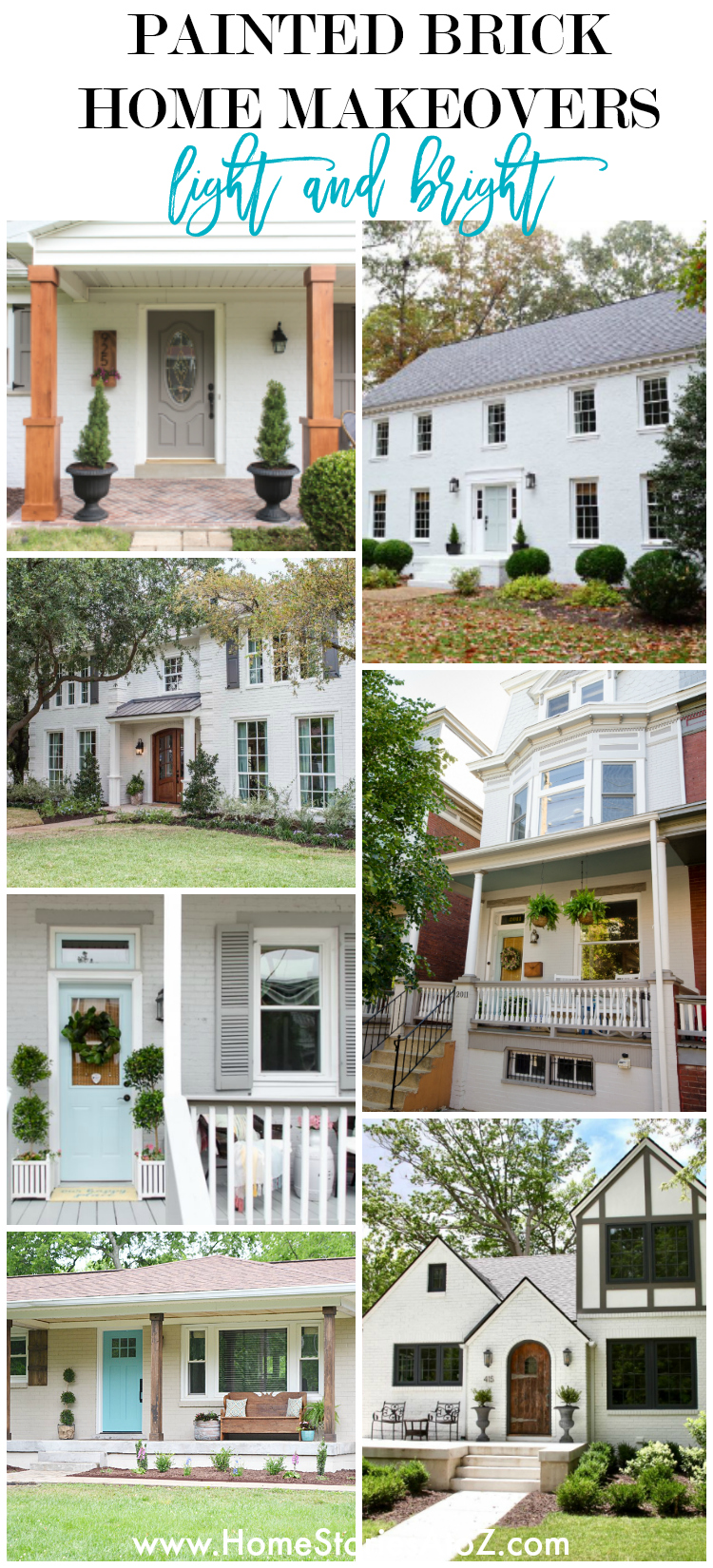 Painted Brick Home Exterior Makeover Before and After Ideas on Brick Painting Ideas  id=48965