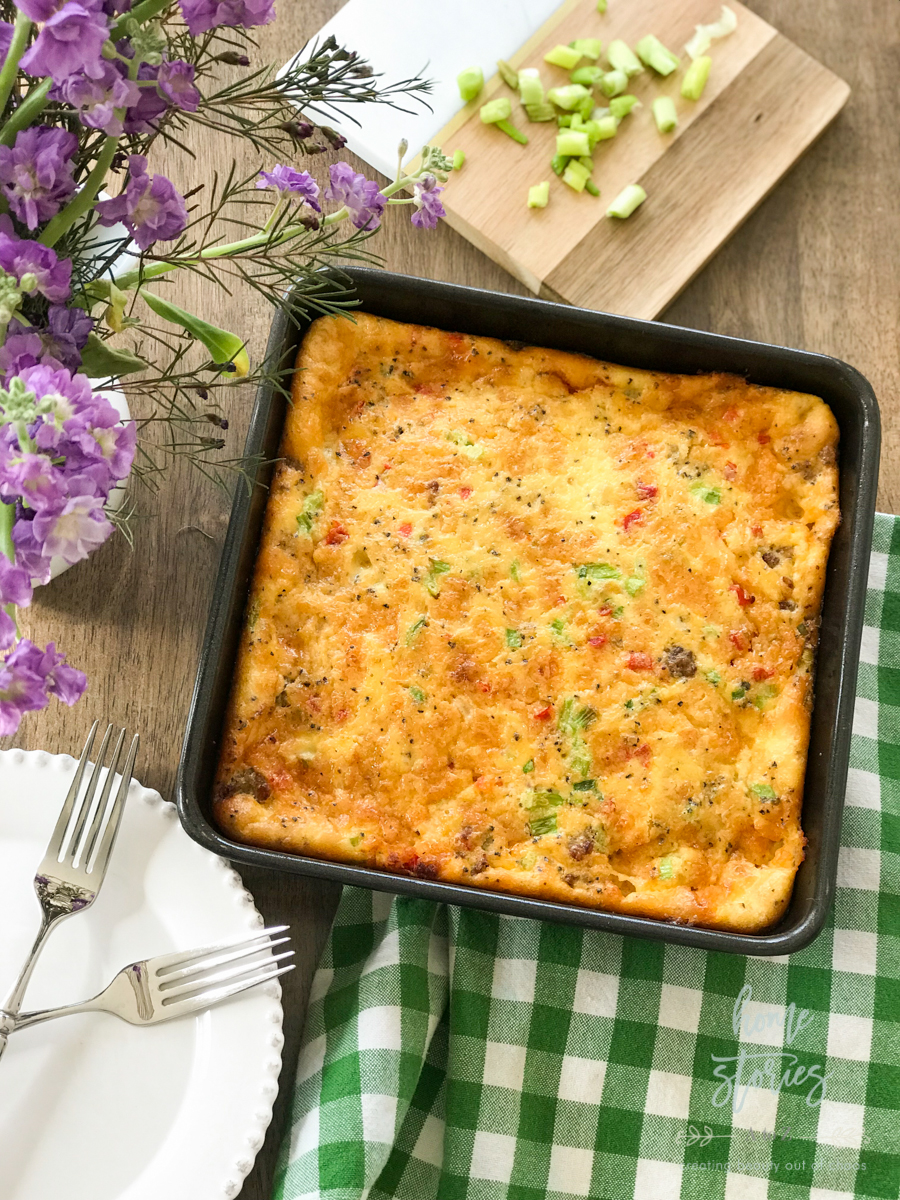 Keto Breakfast Casserole Recipe: Sausage, Egg, and Pimento Cheese Casserole