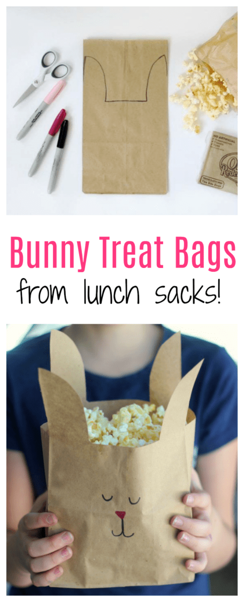 Easter Craft Ideas - Bunny Treat Bags by Gluesticks Blog