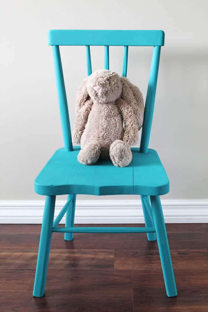 Sweet and Simple Projects - Chalk Paint a Chair by A Nod to Navy
