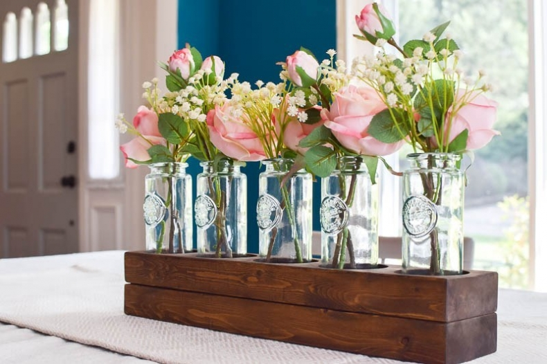 Sweet and Simple Projects - DIY Wooden Farmhouse Style Centerpiece by Making Joy and Pretty Things