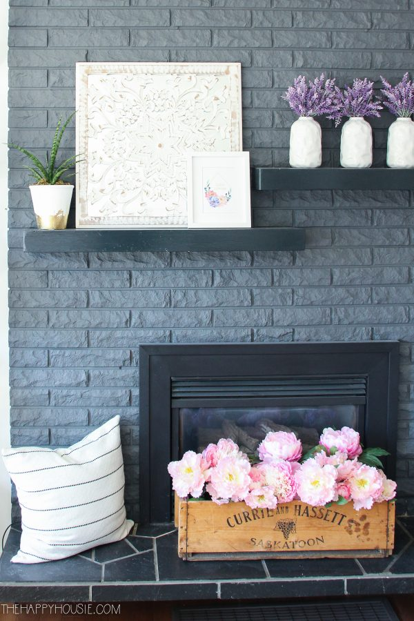 Sweet and Simple Projects - Simple Spring Mantel Decor by The Happy Housie