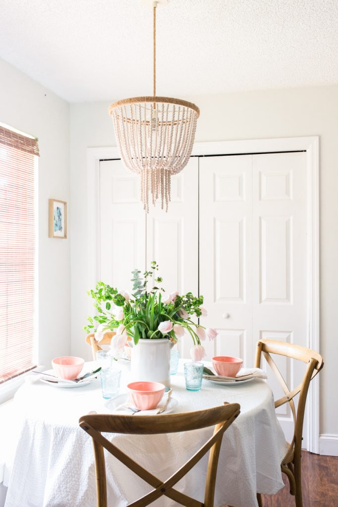 Sweet and Simple Projects - Simple Spring Tablescape by Making Home Base