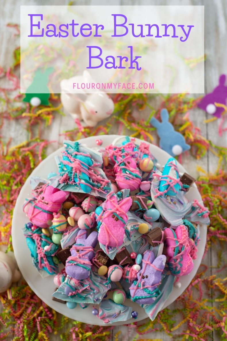 Yummy Easter Treat Recipes - Easter Bunny Bark by Flour on My Face