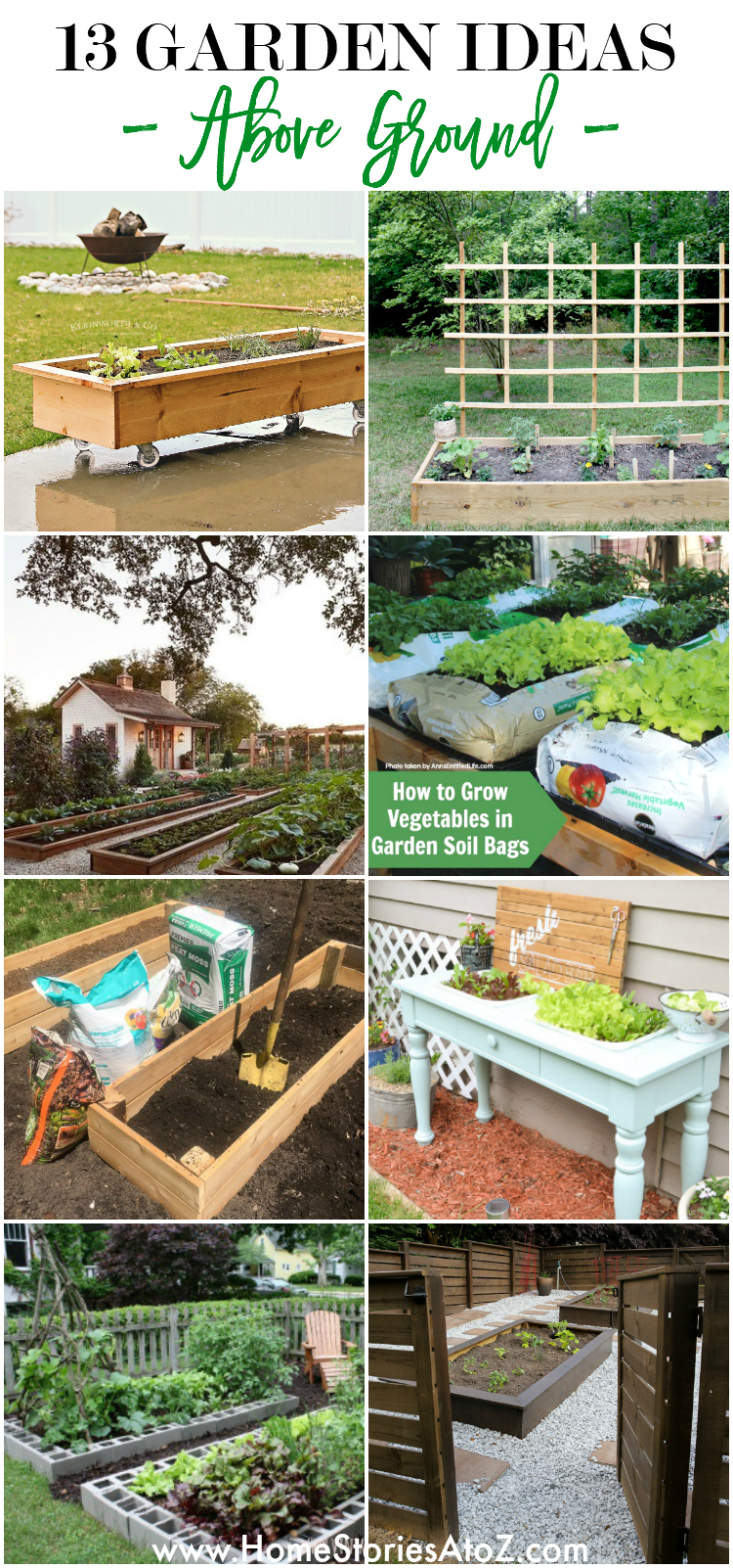 13 Raised Garden Bed Projects and Ideas on