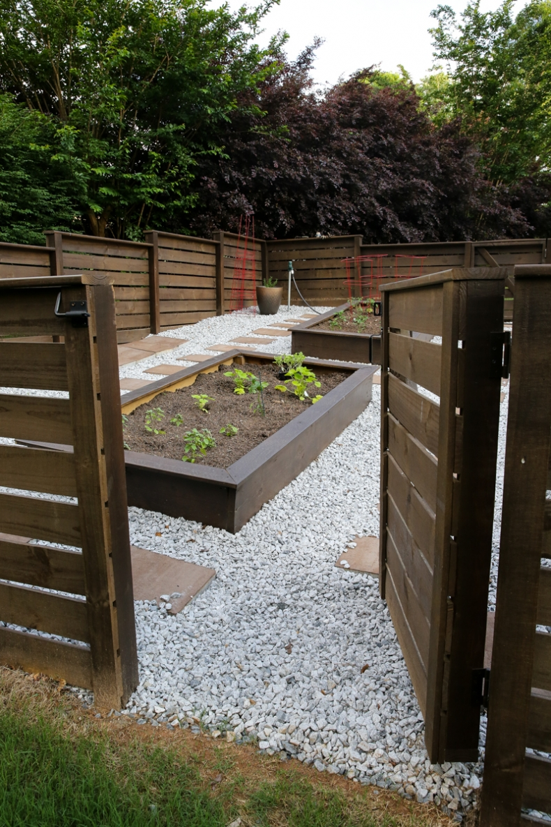 Above Ground Garden Ideas - Beautiful Fenced in Raised Garden Design by Bower Power