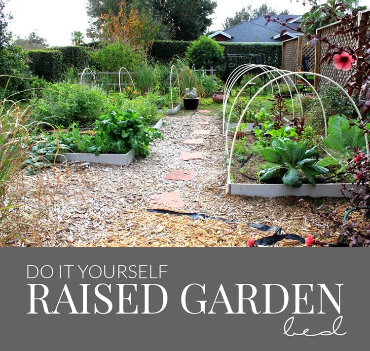 Above Ground Garden Ideas - DIY Raised Garden by Hello Nature Blog