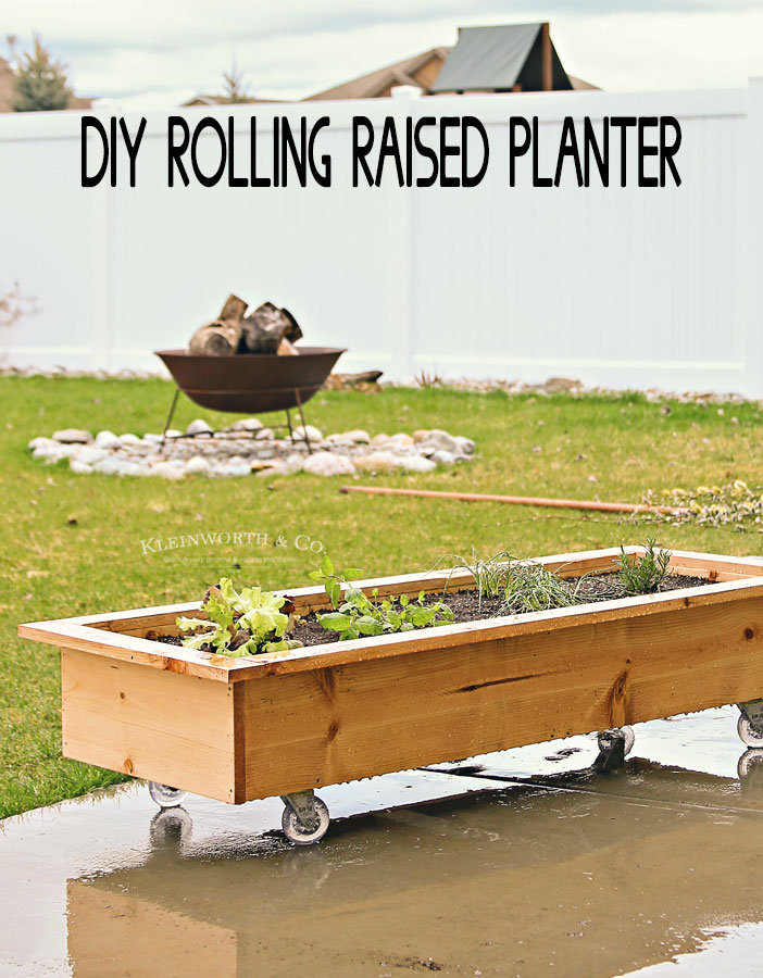 Above Ground Garden Ideas - DIY Rolling Planter Box by Kleinworth Co