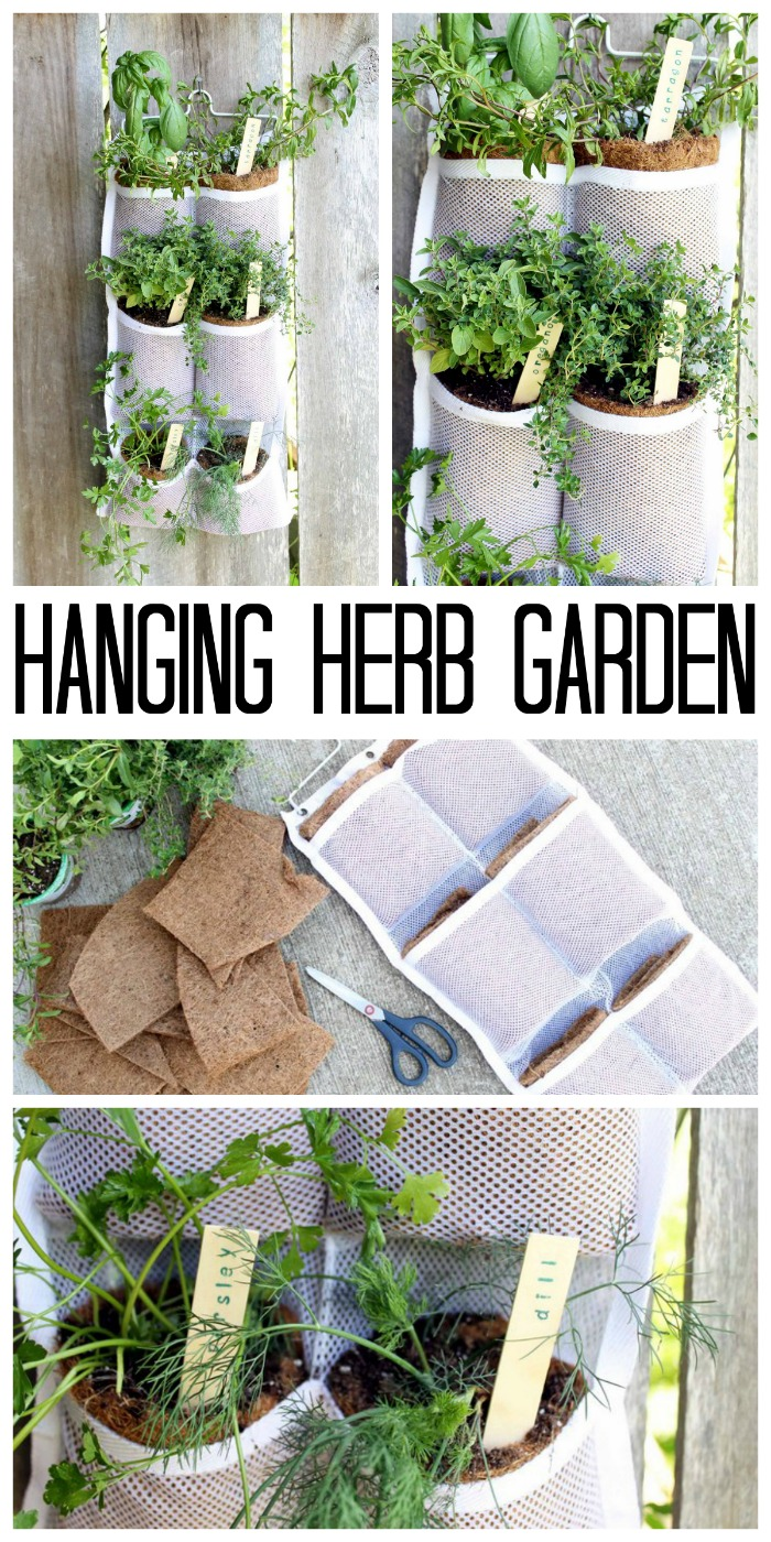 Above Ground Garden Ideas - Hanging Herb Garden by The Country Chic Cottage