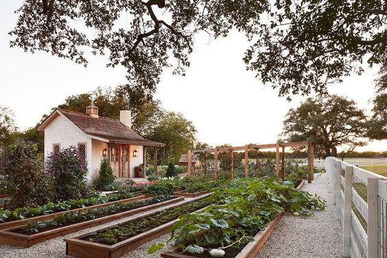 Above Ground Garden Ideas - Joanna Gaines' Farmhouse Garden via BHG