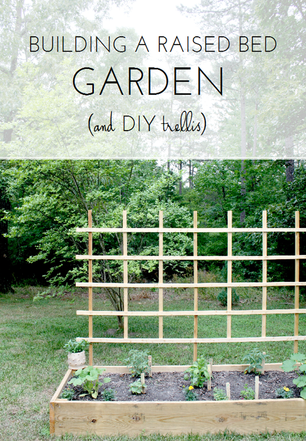 Above Ground Garden Ideas - Raised Bed Garden with Trellis by Emily A Clark