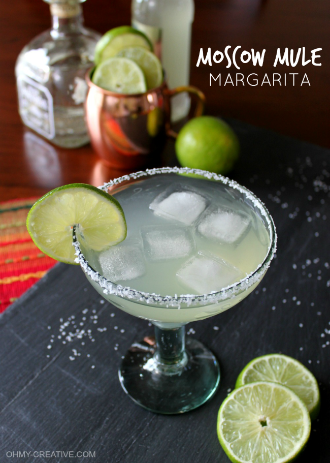 Best Fruity Margaritas - Moscow Mule Margarita by Oh My Creative