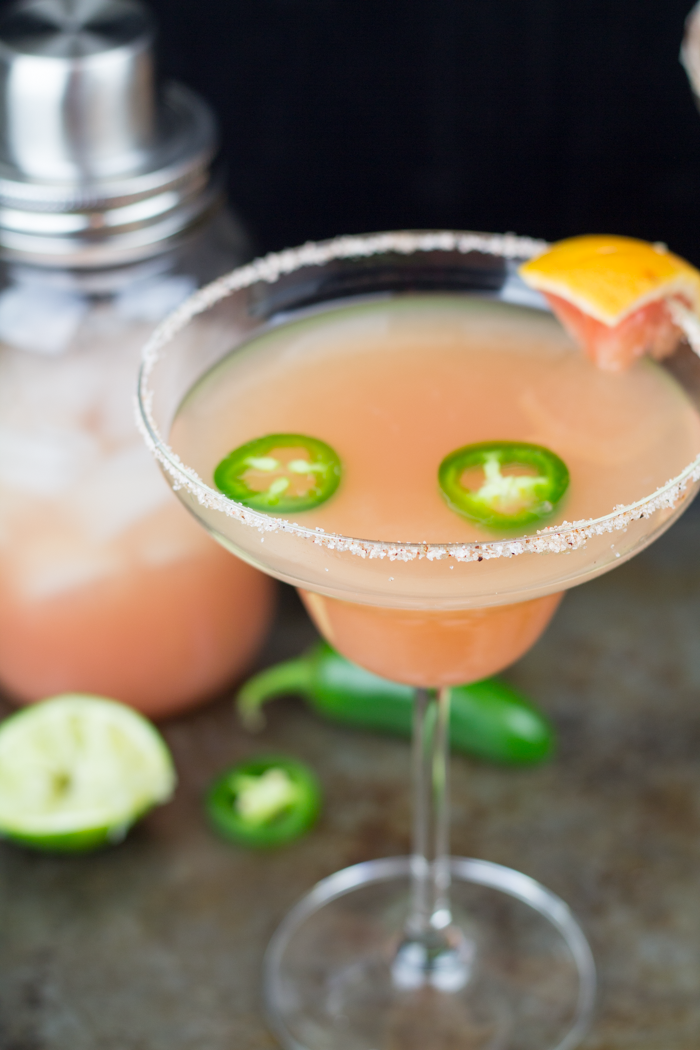 Best Fruity Margaritas - Spicy Grapefruit Margarita by Taylor Bradford
