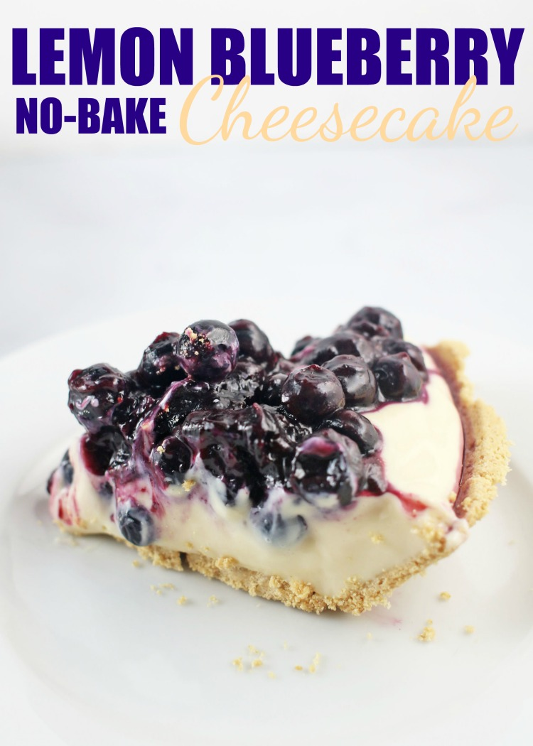 Cheesecake Recipes - Lemon Blueberry No Bake Cheesecake Fresh Blueberries by Rose Bakes