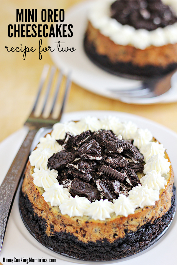 Cheesecake Recipes - Mini Oreo Cheesecakes for Two Recipe by Home Cooking Memories