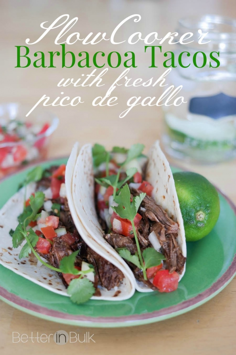 Delicious Taco Recipes - Crockpot Barbacoa Tacos by Food Fun Family