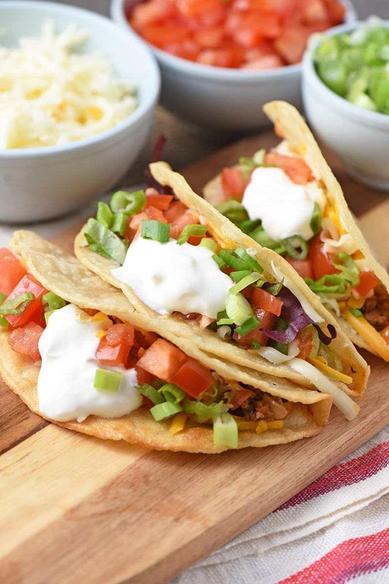 Delicious Taco Recipes - Easy Ground Beef Tacos from Scratch by Adventures of Mel