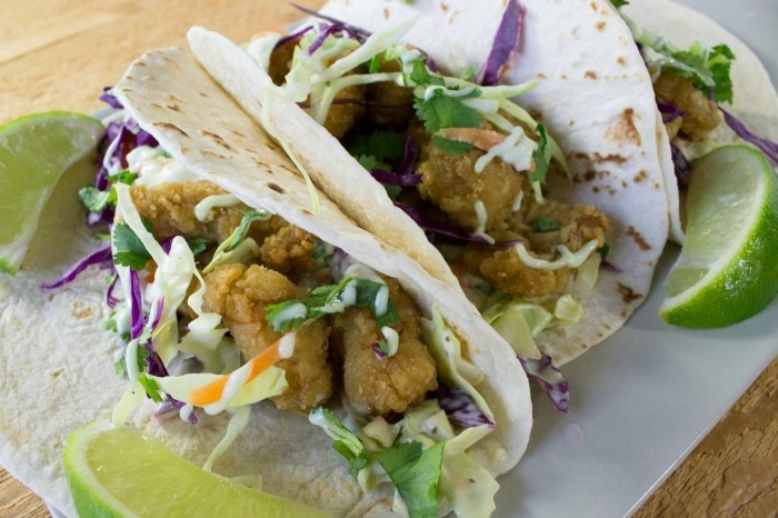 Delicious Taco Recipes - Fish Taco Wasabi Garlic Lime Sauce Recipe by Mainly Homemade