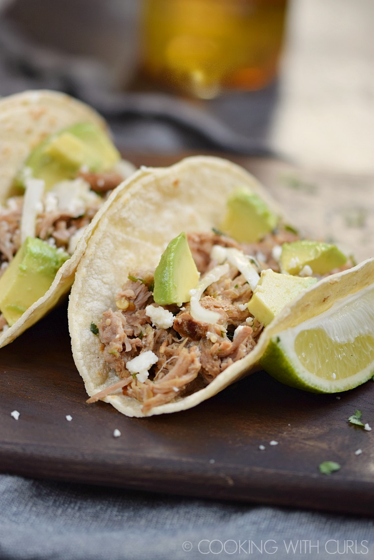 Delicious Taco Recipes - Instant Pot Salsa Verde Pork Taco Recipe by Cooking with Curls