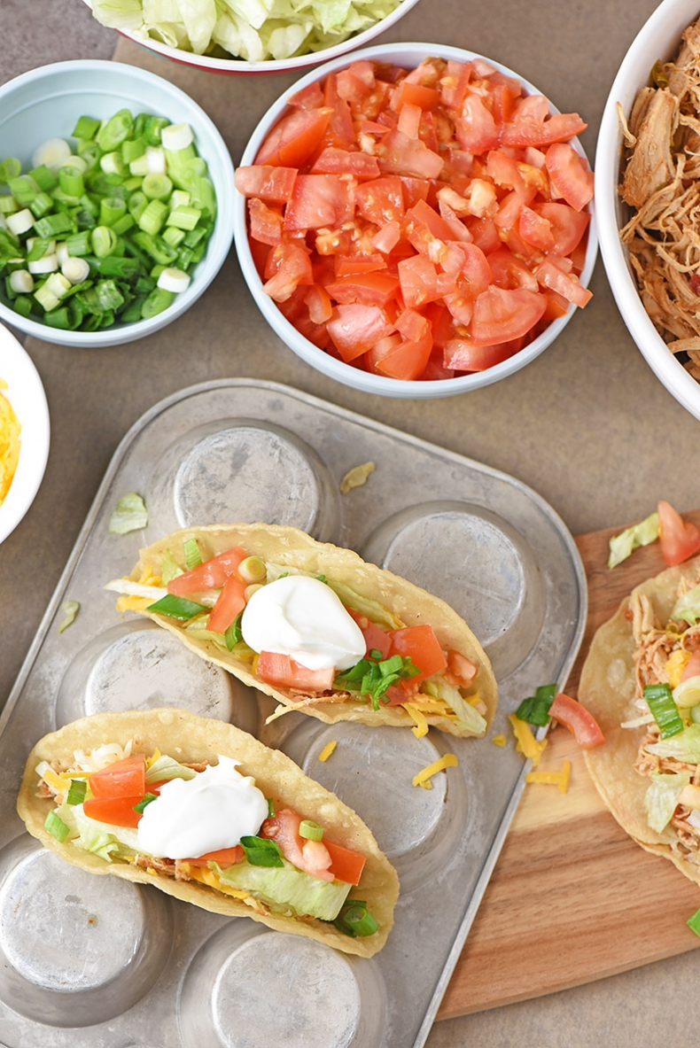 Delicious Taco Recipes - Instant Pot Shredded Chicken Tacos by Adventures of Mel
