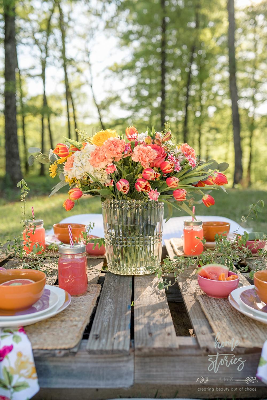 Beautiful Chic Boho Outdoor Table Setting