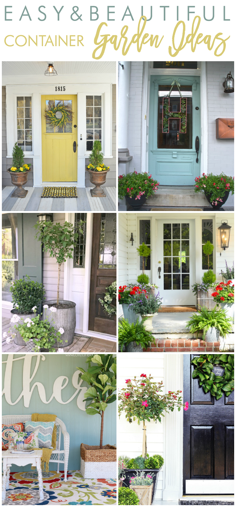 Easy and Beautiful Container Garden Ideas - Home Stories A to Z