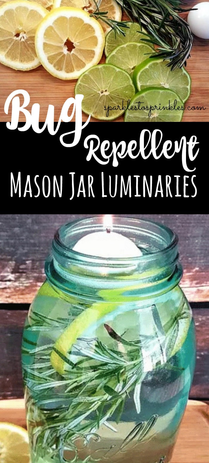 How to Prevent Mosquitoes - Mason Jar Luminaries Bug Repellent by Sparkles to Sprinkles