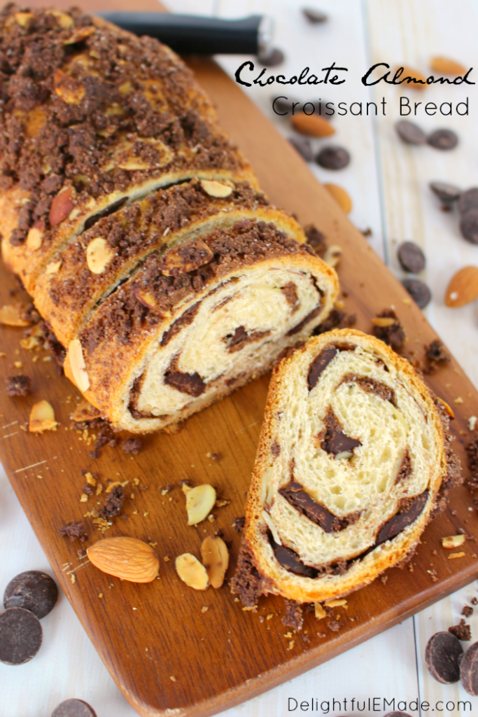 Mother's Day Brunch Ideas - Chocolate Almond Croissant Bread by Delightful E Made