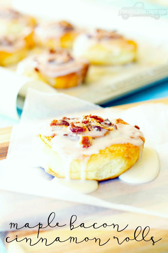 Mother's Day Brunch Ideas - Maple Bacon Cinnamon Rolls by Taylor Bradford