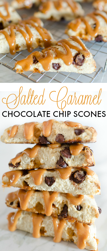 Mother's Day Brunch Ideas - Salted Caramel Chocolate Chip Scone Recipe by Home Stories A to Z