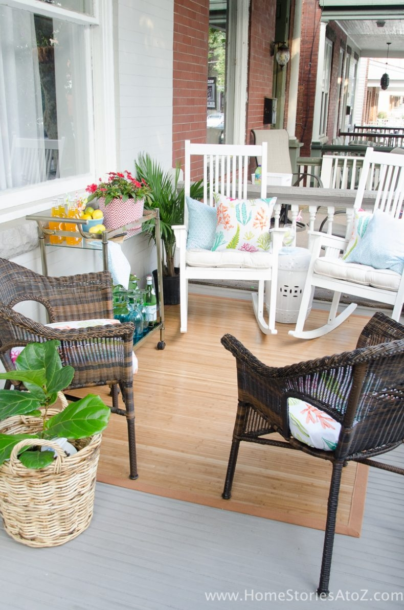 Outdoor Decorating for Spaces of All Sizes - Decorating a Front Porch by Home Stories A to Z