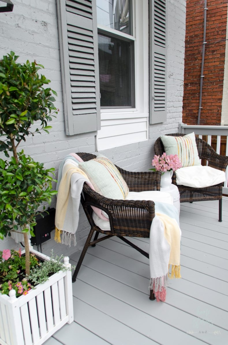 Outdoor Decorating for Spaces of All Sizes - Decorating with a Small Porch by Home Stories A to Z
