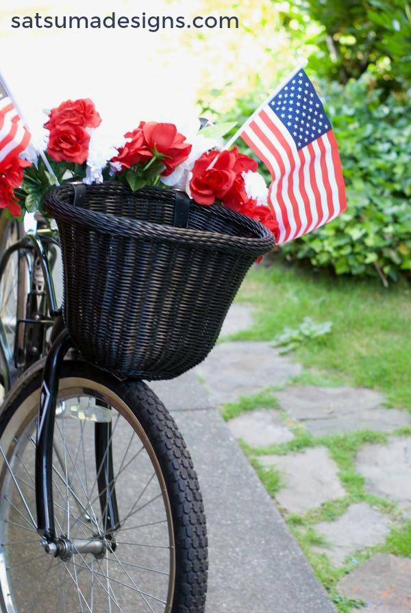Patriotic Decor for July 4th - Patriotic Bike Decor for July 4th by Satsuma Designs
